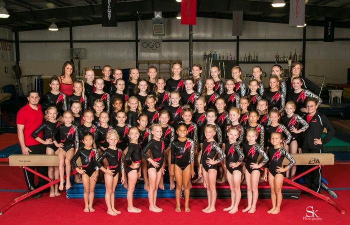 2013-2014 Gymnastics Team | Photo by Shelly Kraemer