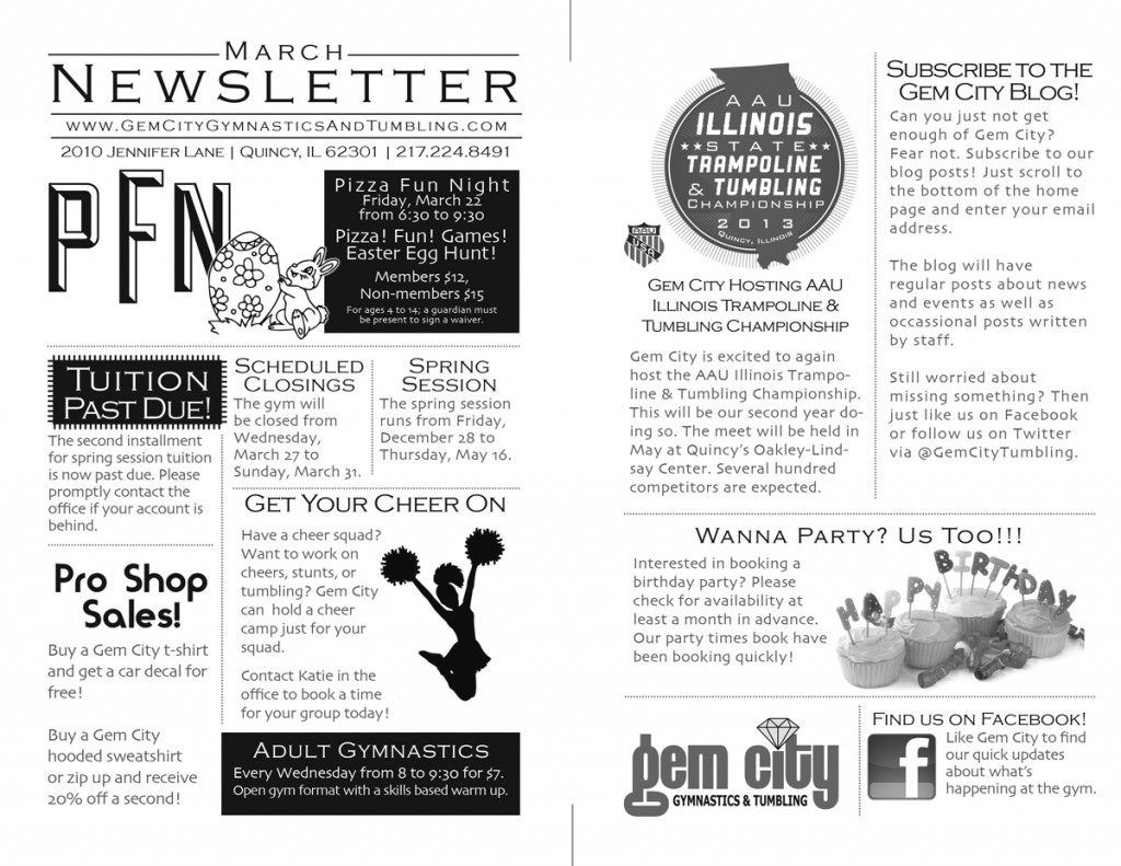 2013 March-Newsletter