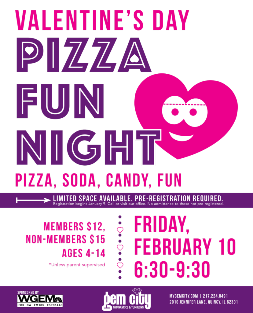 Valentine's Day Pizza Fun Night on Friday, February 10