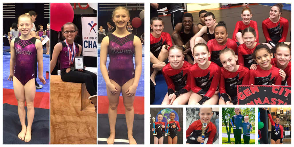Athletes at State Tumbling and Level 7 Regionals