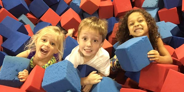Kids love playing in the foam pit