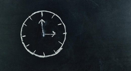 chalk drawing of a clock
