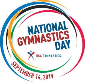 National Gymnastics Day 2019 logo