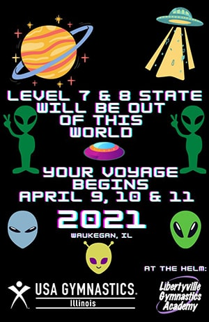Logo for 2021 Illinois State Level 7 & 8 meet